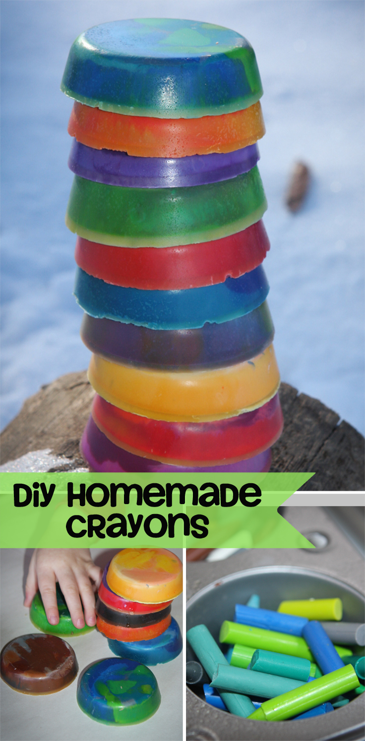 DIY homemade toddler crayons